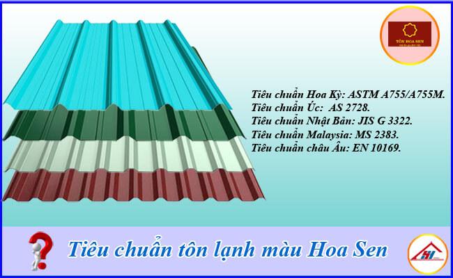 Tiêu chuẩn tôn lạnh màu Hoa Sen